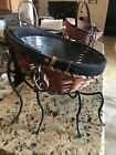Longaberger Large Autumn Treats Basket & Wrought Iron Spider Legs Set HALLOWEEN