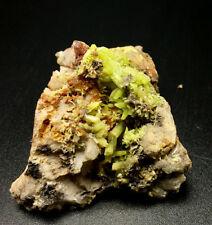41g  Rare natural lucency green pyromorphite crystal mineral samples.Very good