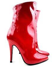 GIOHEL CHEVILLE CUSTOM BOTTINES BOOTS STIEFEL BOTTES PATENT LEATHER ROUGE RED 45