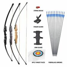 Archery Takedown Recurve Bow & 12x Arrows Set Right Hand for Adult Hunt Training