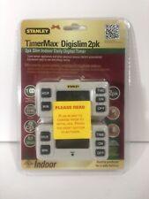 BRAND NEW Stanley TimerMax Digislim 2-Pack Slim Indoor Daily Digital Timer TM213
