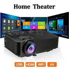 MINI WIFI PROIETTORE LED ANDROID 3D FULL HD Projector HOME CINEMA HDMI USB SD AV