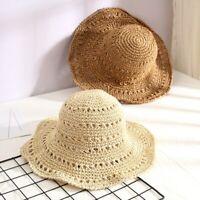 Chapeaux D'été Tissés à La Main Creux Chapeau De Soleil Fedora Respirant Plage