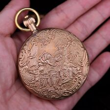Or Copper Double Full Hunter Steampunk European Era Vent Up pocket watch