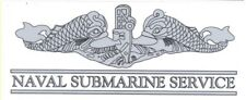 Navy Naval Submarine Service Enlisted Silver Decal