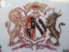 """c1850 Samson Thurston Family Coat of Arms Armorial Chinese Export Style Plate 7"""""""