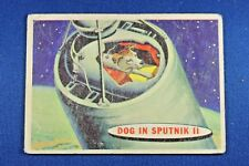 1957 Topps Space Cards - #2 Dog In Sputnik II - Fair Condition