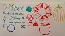 Clear Acrylic Cling Rubber Stamp Set NEW Thanksgiving Sunflower Pumpkin Fall Hi