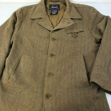 FACONNABLE Albert Goldberg Mens Herringbone Tweed Wool Blend Coat Jacket Medium