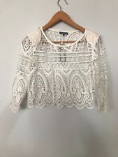 SHEIKE Haven Lace Ivory Top Size 8 **