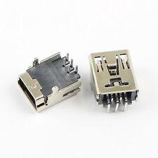 5Pcs Mini USB Female 5 Pin Type B Right Angle PCB Socket Connector 2 Legs DIY
