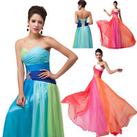 Vintage Style Long Prom Wedding FORMAL Gowns Evening Dress Plus size 20+22+24+26