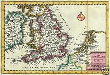 Map of Great Britain by Daniel de la Feuille 1706, Reprint 12x8 inch