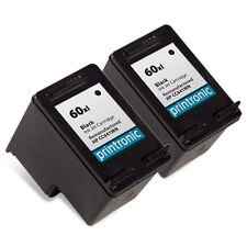 2 Pack For HP 60XL HP60XL CC641WN Black Ink Cartridge