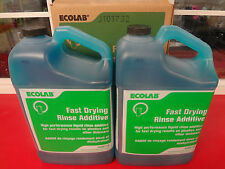 New! 1 Carton of 2 5 qts Ecolab #6100118 fast drying Rinse Additive #1663