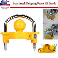 "Heavy Duty Universal Coupler Hitch Trailer Lock fits 1-7/8"", 2"", and 2-5/16"""