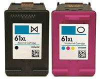 2pk For HP61 XL Blk Clr Ink For Deskjet 3056A 3510 3516 3511 3512 ENVY 4500 5530