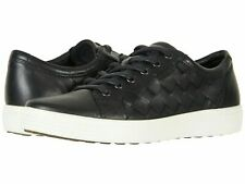 Ecco Soft 7 Tie Fashion Sneaker Woven Comfort Oxford Black sz: 46 EU 12-12.5 US
