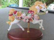 LENOX 1996 HOLIDAY CAROUSEL HORSE. Retired. Doves. 24K. French Horn