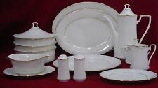 NORITAKE china GOLDEN COVE 7719 pattern 16-piece COMPLETER HOSTESS Serving sET