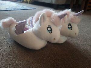 H&M Girls Unicorn Slippers size Infant 12