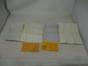 POSTAL HISTORY COVER & CORRESPONDING LETTERS FROM THE RITTER FAMILY (1860'S)
