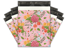 10x13 (100) Floral Roses Designer Poly Mailers Shipping Envelopes Bags