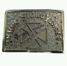 IN HOC SIGNO VINCES Cross Knights of Templar Belt Buckle Silver/Masonic Buckle
