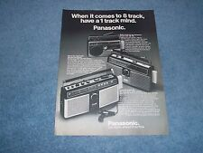 """1978 Panasonic AM/FM Radio Stereo Vintage Ad """"When It Comes to 8-Track ...."""""""