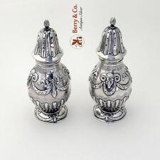Rams Head Sugar Shakers 800 Silver Pair 1890