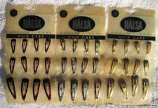 12 HALSA 3 Sizes Silver Gold Red Black Spots Contour Metal Snap Hair Clips Basic