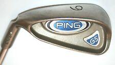 Ping G5 6 iron with Ping regular flex steel shaft - white dot LEFT HANDED