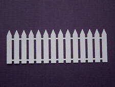 Picket Fence Paper Die Cuts x 8 Scrapbooking Card Topper Embellishment