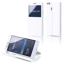 Cartable Clapet Fenêtre Blanc pour Huawei Mate 9 Pochette Couverture Etui Housse