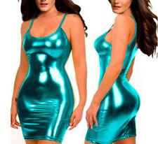 HOT Sexy glisten Metallic PVC FAUX LEATHER Underwear Babydoll Lingerie Strapless