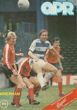 Football Programme - QPR v Wrexham - Div 2 - 1980