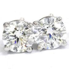 Stud 14k White Gold VS1 Fine Diamond Earrings