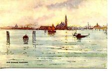 San Giorgio Maggiore-Lagoon-Pretty Signed Art-Venice-Italy-Vintage Tuck Postcard