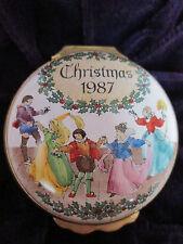Halcyon Days Enamel Box Deck The Halls Christmas 1987 Victorian Dancers