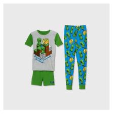 Target Boys' Minecraft 3pc Pajama Set - Green 4