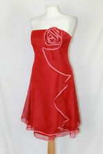 Coast Red Strapless Silk Fit and Flare Party Occasion Xmas Cocktail Dress UK 14