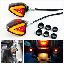 2Pcs Motorcycle ATV 2IN1 LED Turn Signal Indicator Blinker Light Brake/DRL Light