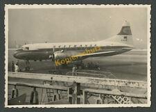 LUFTHANSA AVION CONVAIR cv-340 D-acum l'aéroport de Düsseldorf personnel au sol 1957