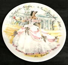 D 'ARCEAU-LIMOGES assiettes, numérotées et peintes à la main de Fr. Ganeau 1976
