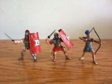 Schleich/Papo lot of 3 Roman & Egyptian figures.