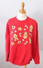 Ugly Christmas Sweater Jumper Women men 2XL xxl cotton sweatshirt scenes red CS5