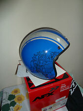 AFX Low Profile Raceway Open Face Motorcycle Bobber Cruiser Helmet