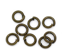 Bronze Tone Open Jump Rings 4mm Dia. Findings, pack of 1500 SP0151