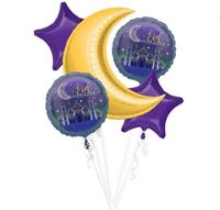 Eid Mubarak Balloons Decorations Banner Star Moon Foil Helium Bouquet Ramadan