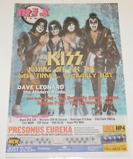 KISS Band Rock The Nation Tour Mixdown Australia Aussie Newspaper Magazine 2004
